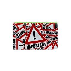 Important Stamp Imprint Cosmetic Bag (xs) by Nexatart