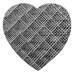 Grid Wire Mesh Stainless Rods Jigsaw Puzzle (heart) by Nexatart