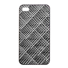 Grid Wire Mesh Stainless Rods Apple Iphone 4/4s Seamless Case (black) by Nexatart