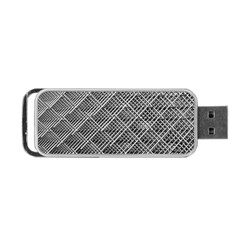 Grid Wire Mesh Stainless Rods Portable Usb Flash (two Sides) by Nexatart