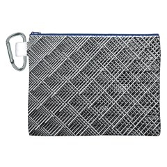 Grid Wire Mesh Stainless Rods Canvas Cosmetic Bag (xxl) by Nexatart