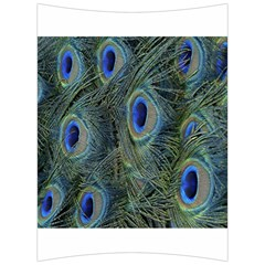 Peacock Feathers Blue Bird Nature Back Support Cushion by Nexatart