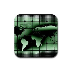 Matrix Earth Global International Rubber Square Coaster (4 Pack)  by Nexatart