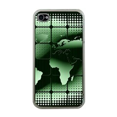 Matrix Earth Global International Apple Iphone 4 Case (clear) by Nexatart