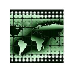Matrix Earth Global International Small Satin Scarf (square) by Nexatart