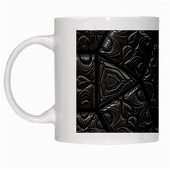 Tile Emboss Luxury Artwork Depth White Mugs by Nexatart