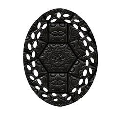 Tile Emboss Luxury Artwork Depth Oval Filigree Ornament (two Sides) by Nexatart