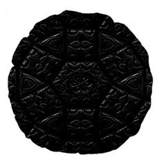 Tile Emboss Luxury Artwork Depth Large 18  Premium Round Cushions by Nexatart