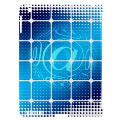 Tile Square Mail Email E Mail At Apple Ipad 3/4 Hardshell Case (compatible With Smart Cover) by Nexatart