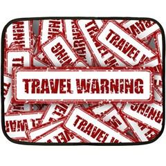 Travel Warning Shield Stamp Double Sided Fleece Blanket (mini)  by Nexatart