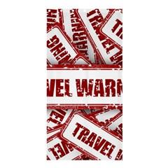 Travel Warning Shield Stamp Shower Curtain 36  X 72  (stall)  by Nexatart