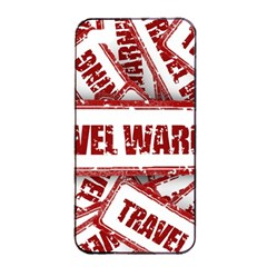 Travel Warning Shield Stamp Apple Iphone 4/4s Seamless Case (black) by Nexatart