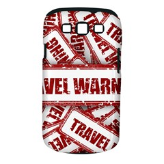 Travel Warning Shield Stamp Samsung Galaxy S Iii Classic Hardshell Case (pc+silicone) by Nexatart