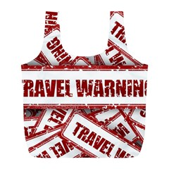 Travel Warning Shield Stamp Full Print Recycle Bags (l)  by Nexatart