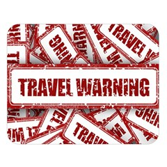 Travel Warning Shield Stamp Double Sided Flano Blanket (large)  by Nexatart
