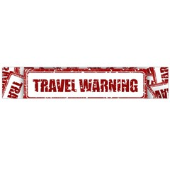 Travel Warning Shield Stamp Flano Scarf (large) by Nexatart