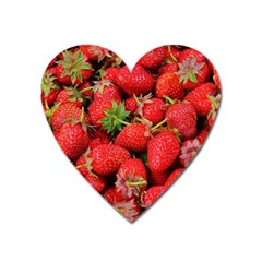 Strawberries Berries Fruit Heart Magnet by Nexatart