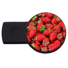 Strawberries Berries Fruit Usb Flash Drive Round (2 Gb) by Nexatart