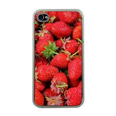 Strawberries Berries Fruit Apple Iphone 4 Case (clear) by Nexatart
