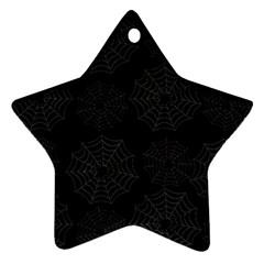Spider Web Ornament (star) by Valentinaart