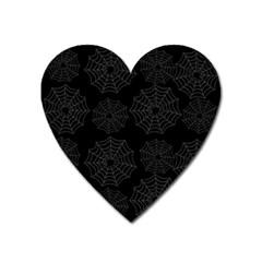 Spider Web Heart Magnet by Valentinaart