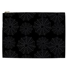 Spider Web Cosmetic Bag (xxl)  by Valentinaart