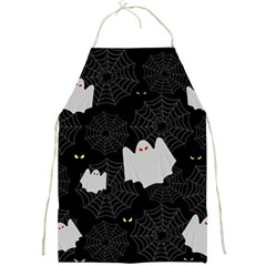 Spider Web And Ghosts Pattern Full Print Aprons by Valentinaart