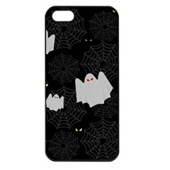 Spider Web And Ghosts Pattern Apple Iphone 5 Seamless Case (black) by Valentinaart