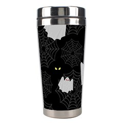 Spider Web And Ghosts Pattern Stainless Steel Travel Tumblers by Valentinaart