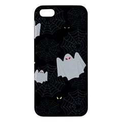 Spider Web And Ghosts Pattern Iphone 5s/ Se Premium Hardshell Case by Valentinaart