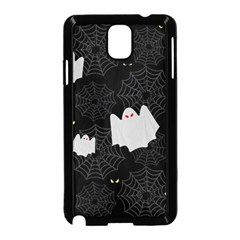 Spider Web And Ghosts Pattern Samsung Galaxy Note 3 Neo Hardshell Case (black) by Valentinaart