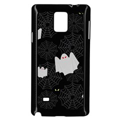 Spider Web And Ghosts Pattern Samsung Galaxy Note 4 Case (black) by Valentinaart