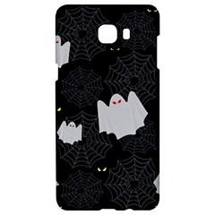 Spider Web And Ghosts Pattern Samsung C9 Pro Hardshell Case  by Valentinaart
