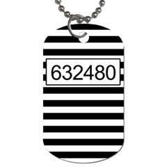 Prison  Dog Tag (two Sides) by Valentinaart