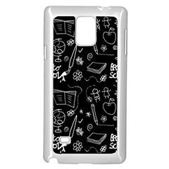 Back To School Samsung Galaxy Note 4 Case (white) by Valentinaart