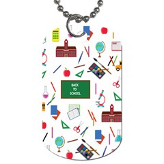 Back To School Dog Tag (one Side) by Valentinaart