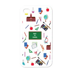Back To School Apple Iphone 4 Case (white) by Valentinaart