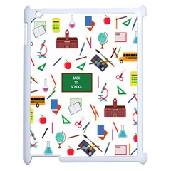 Back To School Apple Ipad 2 Case (white) by Valentinaart