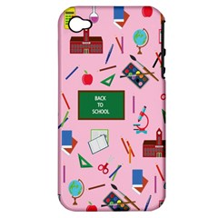 Back To School Apple Iphone 4/4s Hardshell Case (pc+silicone) by Valentinaart