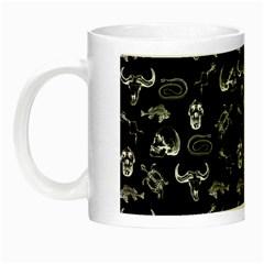 Skeleton Pattern Night Luminous Mugs by Valentinaart