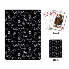 Skeleton Pattern Playing Card by Valentinaart