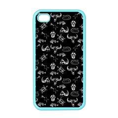 Skeleton Pattern Apple Iphone 4 Case (color) by Valentinaart