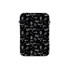 Skeleton Pattern Apple Ipad Mini Protective Soft Cases by Valentinaart