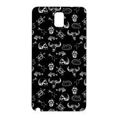 Skeleton Pattern Samsung Galaxy Note 3 N9005 Hardshell Back Case by Valentinaart