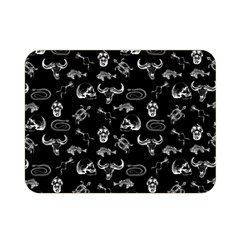 Skeleton Pattern Double Sided Flano Blanket (mini)  by Valentinaart