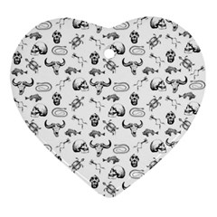 Skeleton Pattern Ornament (heart) by Valentinaart