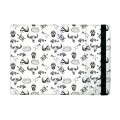 Skeleton Pattern Apple Ipad Mini Flip Case by Valentinaart