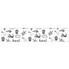 Skeleton Pattern Flano Scarf (small) by Valentinaart