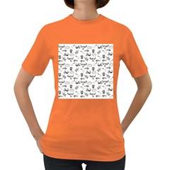 Skeleton Pattern Women s Dark T Shirt by Valentinaart
