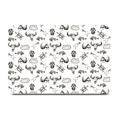 Skeleton Pattern Plate Mats by Valentinaart